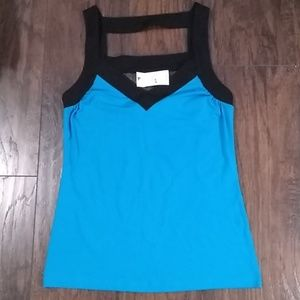 BNWT,Express, Pretty blue and black tank style top